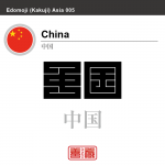 中国 China 角字で世界の国名、漢字表記