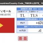 東ティモール/TIMOR-LESTE