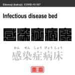 感染症病床 かんせんしょうびょうしょう 新型コロナウイルス感染症関連用語(漢字表記)を角字で表現してみました。用語についても簡単に解説しています。