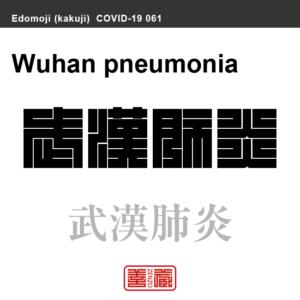 武漢肺炎 ぶかんはいえん 新型コロナウイルス感染症関連用語(漢字表記)を角字で表現してみました。用語についても簡単に解説しています。