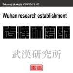 武漢研究所 ぶかんけんきゅうじょ 新型コロナウイルス感染症関連用語(漢字表記)を角字で表現してみました。用語についても簡単に解説しています。